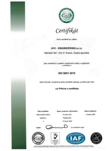 CERTIFIKÁT - ČSN EN ISO 9001
