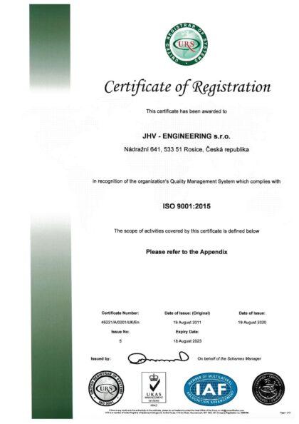 CERTIFICATE - ČSN EN ISO 9001