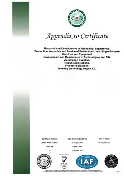 CERTIFICATE - ČSN EN ISO 9001:2015